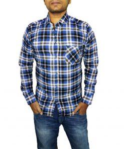 men shirt design blue