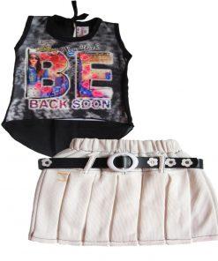 designer skirt and top black and white