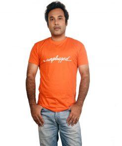 orange t-shirt unplugged