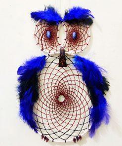 big blue owl for home decoration