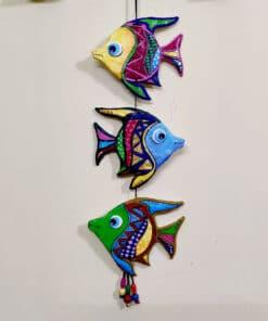 fish art wall hanging made of clay